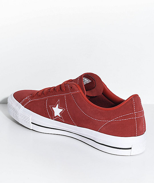 18bae615ad2f ... reduced converse one star pro terra red white skate shoes c4f04 f5a16