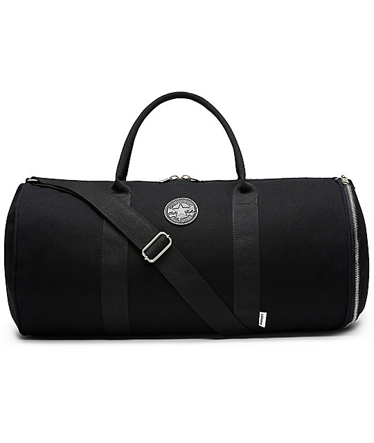 acabaef74689 Converse Original Black Canvas Duffle Bag