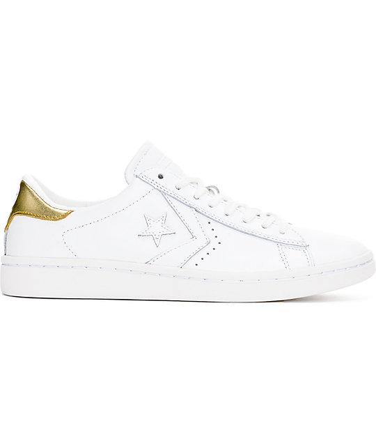 de4744ae5633 ... Converse PL LP Ox White   Gold Womens Leather Shoes ...