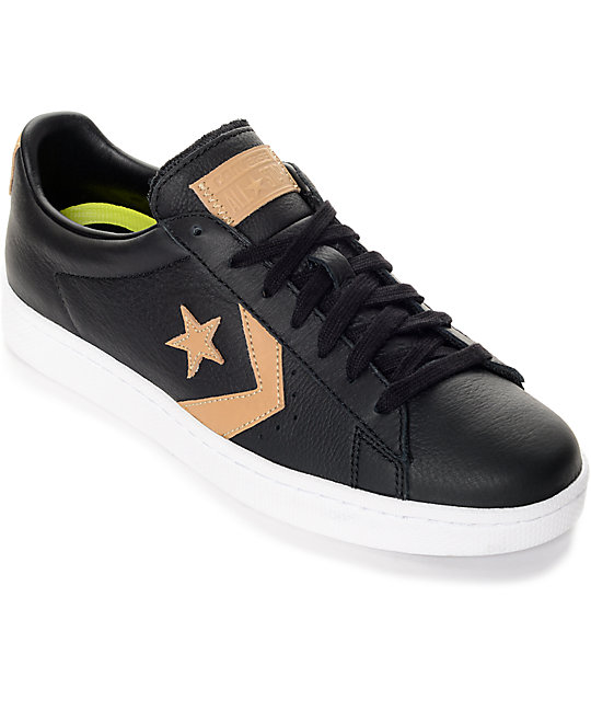 Converse Pro Leather 76' Black, Tan & Black Shoes