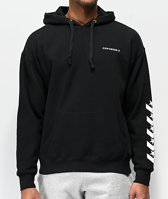 Converse Repeated Chevron Star Black Hoodie