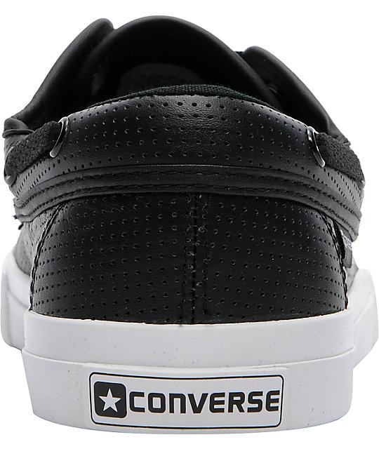 Converse Sea Star S II Ox Black Perforated Leather Shoes