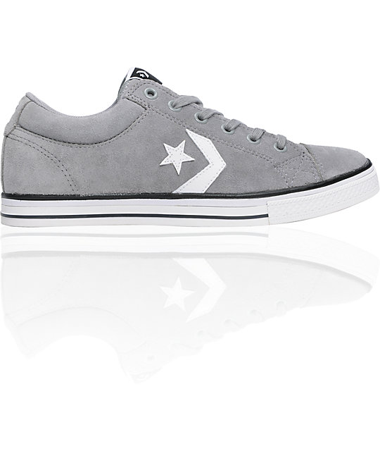 Converse Star Player x Lite Grey & White Shoes