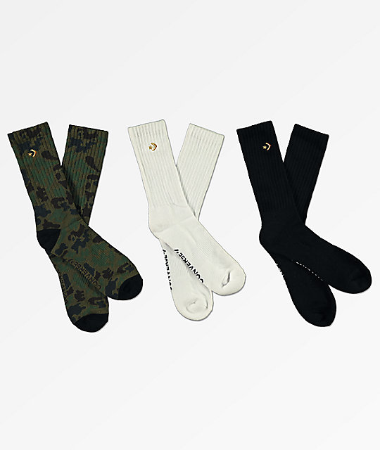 c3128087e3b71 Converse Star Three Pack Crew Socks
