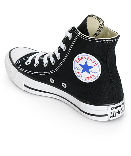 763bc442f930 ... Converse Womens Chuck Taylor All Star Black High Top Shoes ...