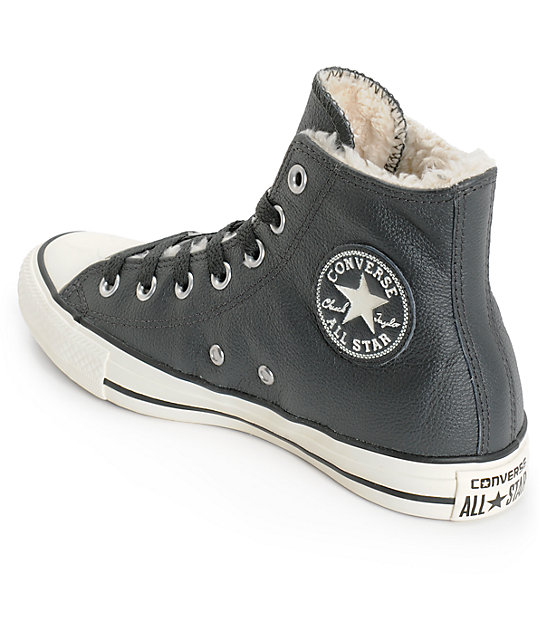 95c50a3389db ... Converse Womens Chuck Taylor All Star Black Leather Shoes ...