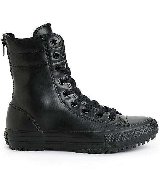 ... Converse Womens Chuck Taylor All Star Hi-Rise Rubber Boots 8d56a3281c91f