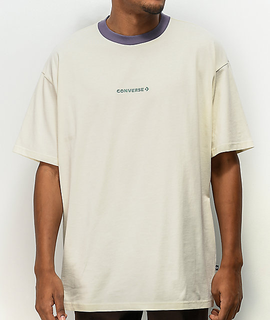 Converse Wordmark Oversize White Knit T-Shirt