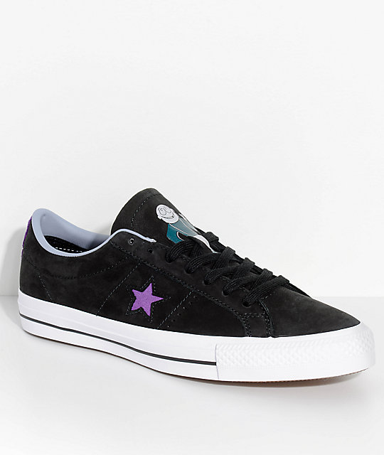 Converse x Dinosaur Jr. One Star Pro Black   Purple Skate Shoes  9ba944c2d