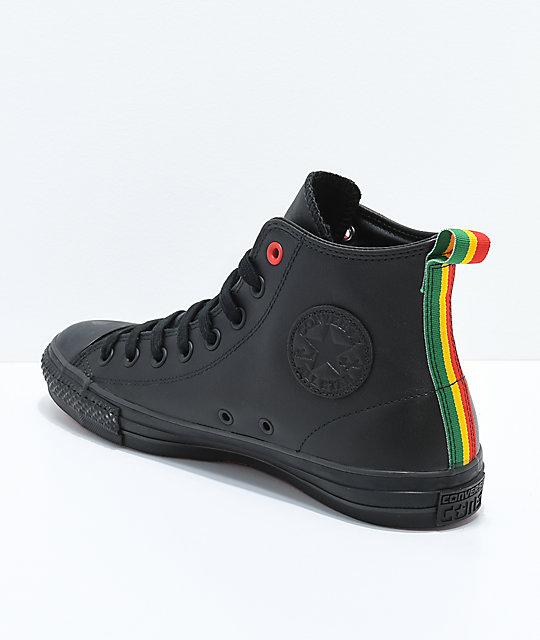 c8657941f93 ... Converse x Eli Reed CTAS Pro Hi Black Skate Shoes ...