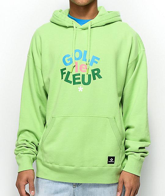 814f0ba2d674 Converse x Golf Wang Le Fleur Jade Lime Hoodie