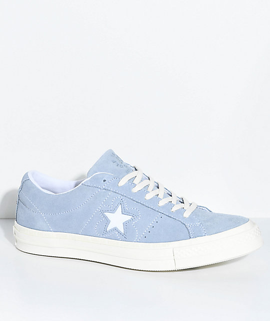 b8f4613fccbf Converse x Golf Wang One Star Le Fleur Blue Shoes