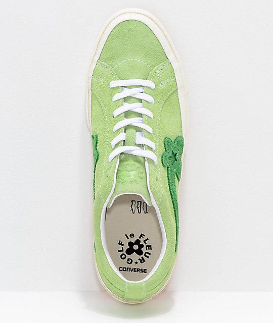 5c8a0dcb2aea ... Converse x Golf Wang One Star Le Fleur Jade Lime Shoes ...