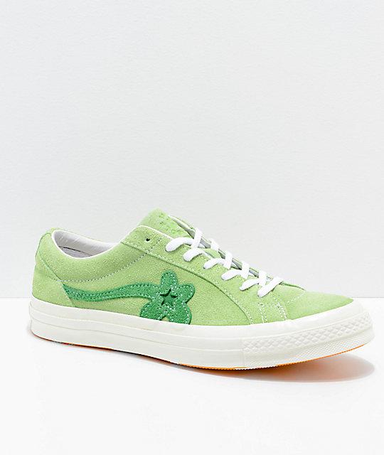294a345ec450 Converse x Golf Wang One Star Le Fleur Jade Lime Shoes