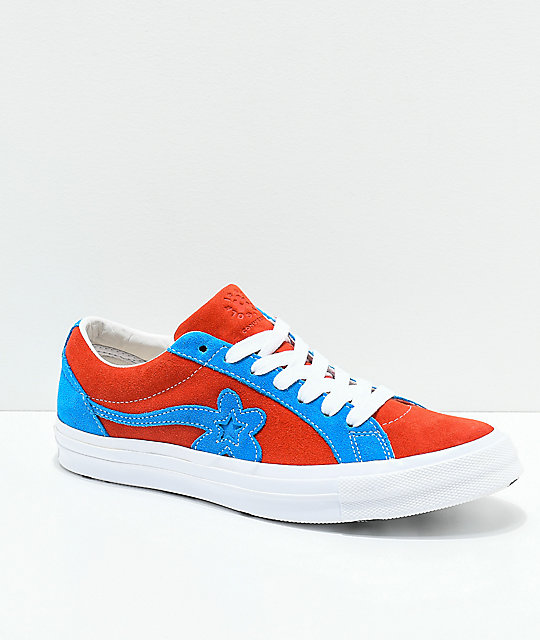 9ecaf34275b1 Converse x Golf Wang One Star Le Fleur Lava   Diva Blue Skate Shoes ...