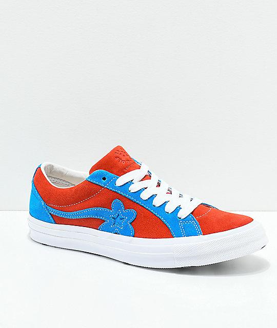Converse X Golf Wang One Star Le Fleur Lava Diva Blue Skate Shoes Zumiez
