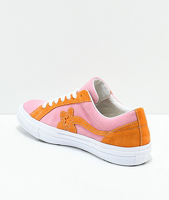 Converse x Golf Wang One Star Le Fleur Pink & Orange Peel Skate Shoes