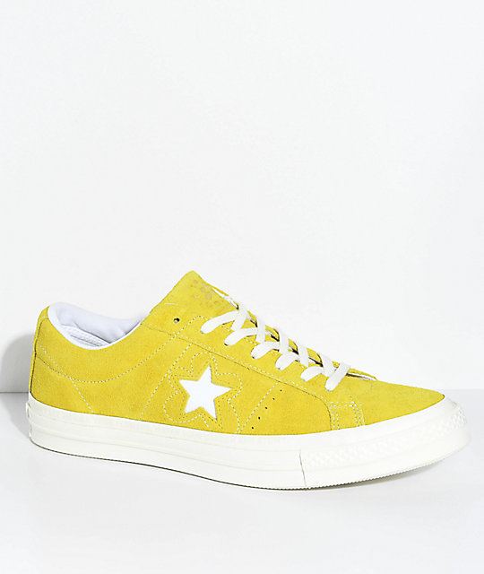 773dbfccd029 Converse x Golf Wang One Star Le Fleur Sulphur Shoes ...