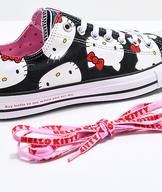 ... Converse x Hello Kitty Chuck Taylor Black   White Shoes ... 0c76c0089