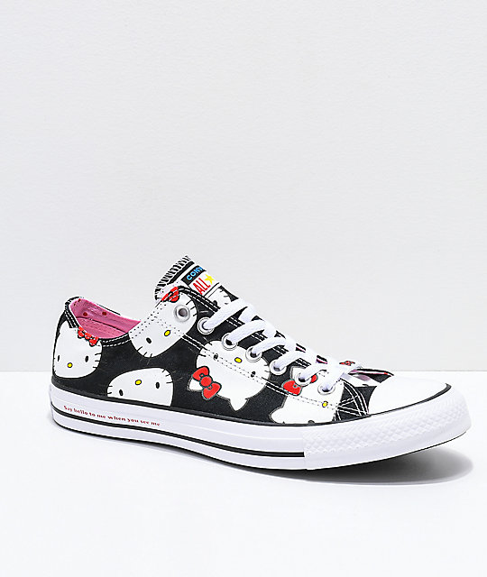 89b55c836e Converse x Hello Kitty Chuck Taylor Black   White Shoes
