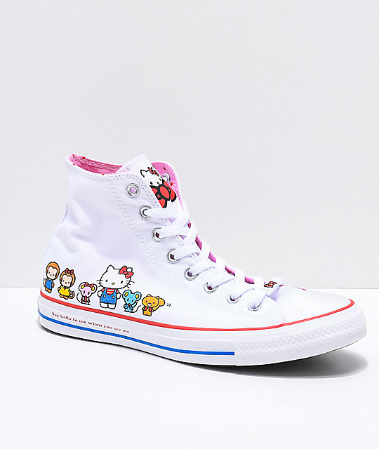 converse x hello kitty chuck taylor white shoes zumiez