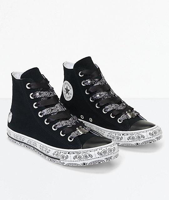 converse x hi tops black