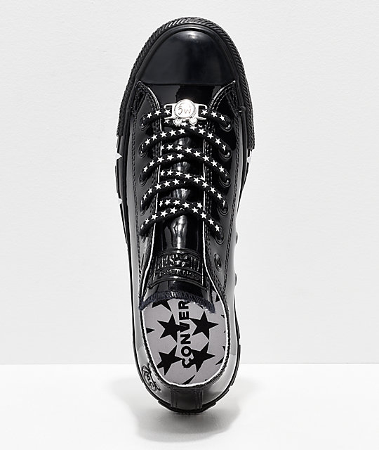 Converse x Miley Cyrus CTAS Black Patent Leather Shoes