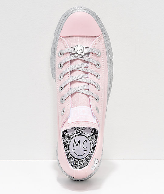 a6be48340fc ... Converse x Miley Cyrus Lift Pink Glitter Shoes ...