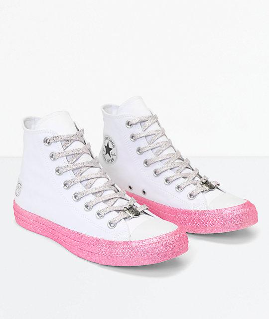 Converse Shoes | 7 Converse Miley Cyrus Glitter Hi Top