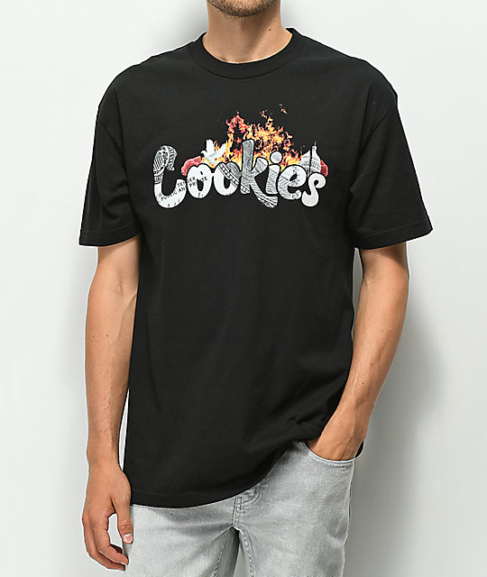 Cookies Burning Down The House camiseta negra
