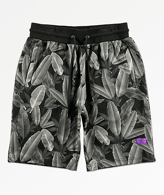 Cookies Emerald Triangle Charcoal Elastic Waist Shorts