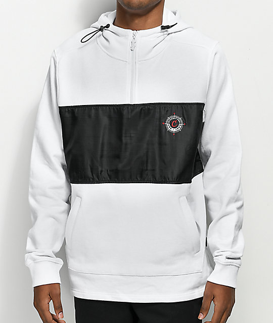 Cookies Expedition White Quarter Zip Hoodie
