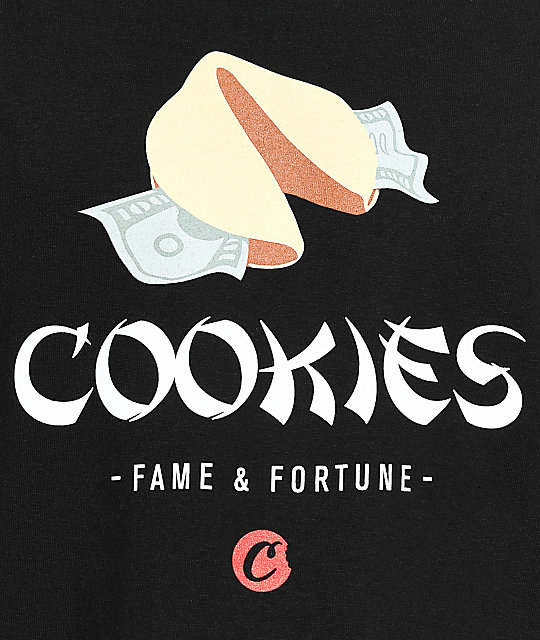 Cookies Fame And Fortune camiseta negra