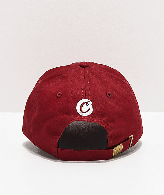 Cookies Thin Mint Burgundy & White Strapback Hat