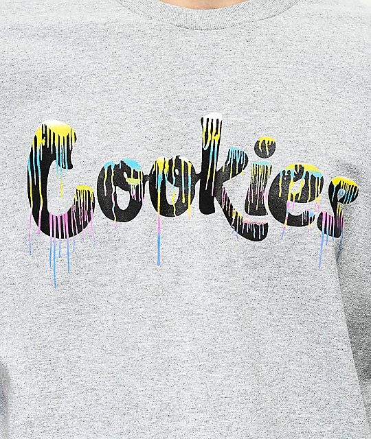 Cookies Vibrant Drip Heather Grey T-Shirt