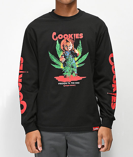 Cookies x Chucky Friends Black Long Sleeve T-Shirt