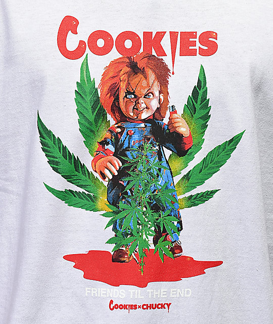 Cookies x Chucky Friends camiseta blanca
