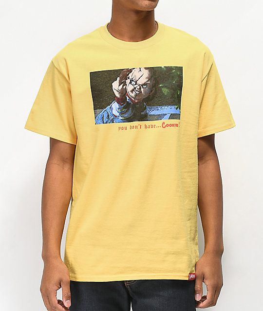 Cookies x Chucky No Cookies Yellow T-Shirt
