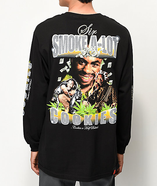 Cookies x Half Baked Sir Smoke A-Lot camiseta negra de manga larga