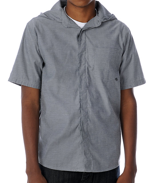 Copy Evolute Grey Hooded Woven Shirt