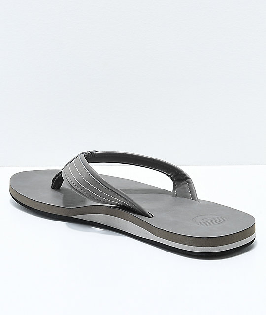 Cords Commando 2 Grey Synthetic Leather Sandals
