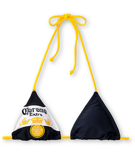 Corona Swim Bottle Label Navy & Gold Triangle Top