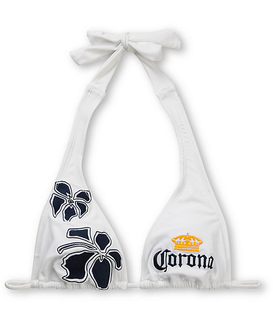 Corona Swim White 5 Point Triangle Bikini Top