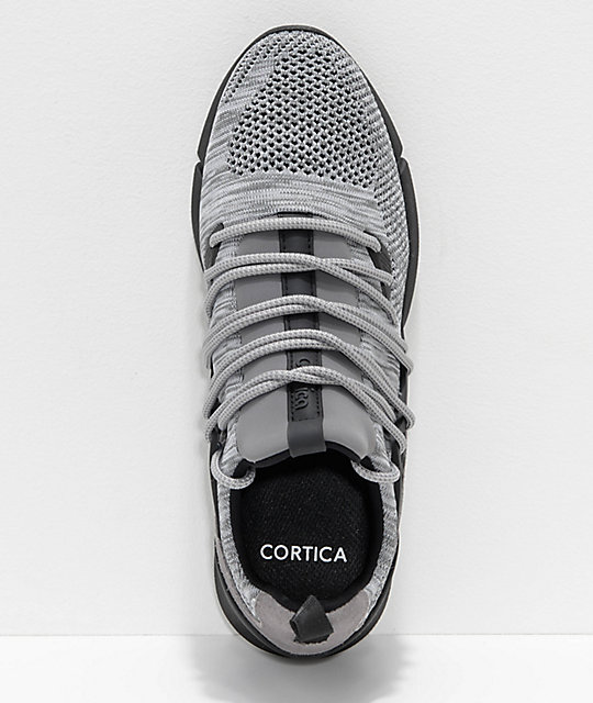 Cortica Rapide 118 Grey & White Knit Shoes