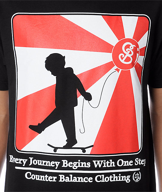 Counter Balance Every Journey Black T-Shirt