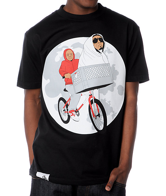 Counter Balance Phone Home Black T-Shirt