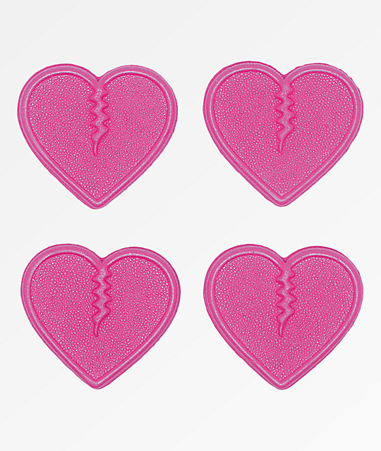 Crab Grab Mini Hearts Pink Stomp Pads