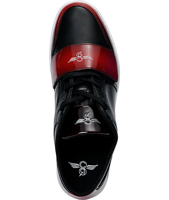 Creative Recreation Cesario Lo Black & Red Gradient Patent Leather Shoes