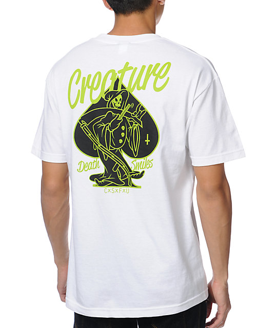 Creature Death Smiles White T-Shirt