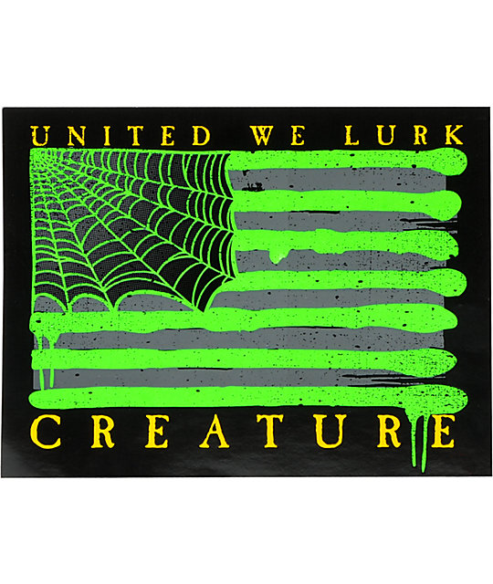 Creature lurk nation sticker